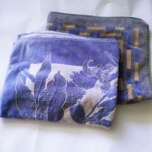 Home Two Lavender bath towels with flower pattern